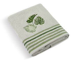 Froté ručník Monstera 50x100 cm šedá