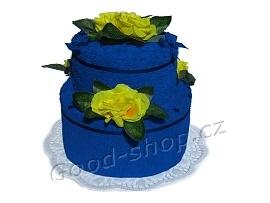 Textilní dort 2P-41 2patrový (1xruč.+1xosuš.) tm.modrý