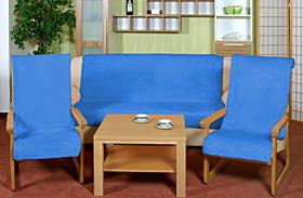 Přehoz na sedací soupravu 3+1+1 modrá