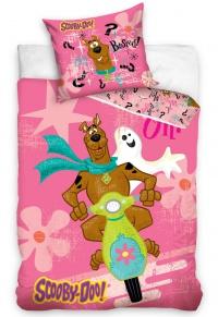 Povlečení Scooby Doo Pink 70x80, 140x200 cm