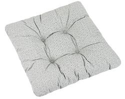 Sedák prošívaný Adéla 40x40 cm mandaly šedá