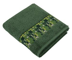 Froté ručník kameny 50x100 cm zelená