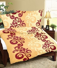Povlečení flanelové 140x200,70x90 cm retro oranžové