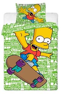 Povlečení Simpsonovi - Bárt green 140x200,70x90 cm