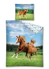 Povlečení Koně 140x200,70x80 cm