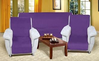Přehoz na sedací soupravu 3+1+1 fialová