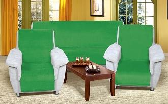 Přehoz na sedací soupravu 3+1+1 zelená