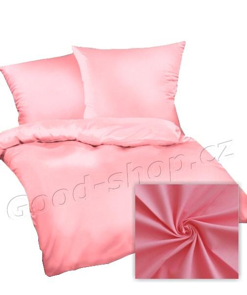 Povlak na polštář satén 70x90 cm růžová