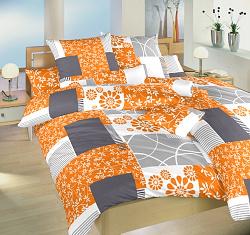 Povlečení satén nežehlivý 70x90, 140x200cm Bluemoon oranžový