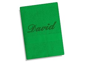 Ručník se jménem - tm.zelená 50x90 cm tm.zelená