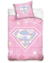 Povlečení do postýlky Supergirl 100x135 + 40x60 cm růžová