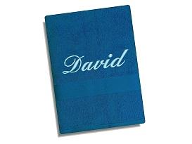 Ručník se jménem - modrá 50x100 cm modrá, sv.výšivka