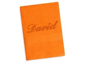Ručník se jménem - oranžová 50x90 cm oranžová