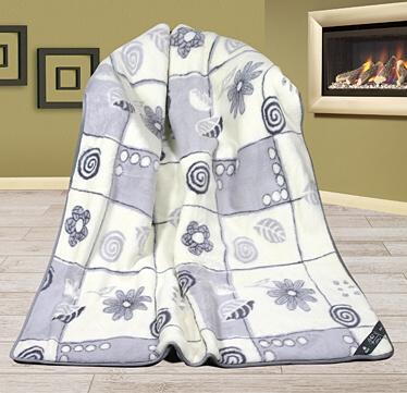 Alpaka vlněná deka patchwork 155x200 cm patchwork šedý