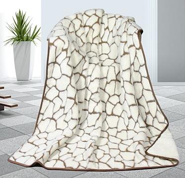 Kašmír vlněná deka 155x200 cm kameny