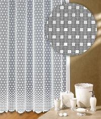 Záclona Ema výška 140 cm bílá