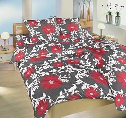Náhradní polštář k povlečení bavlna 70x90 cm Lola červená