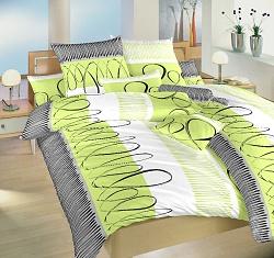 Povlak na polštář flanel 50x70 cm Evelína kiwi