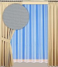 Záclona Miriam výška 210 cm bílá