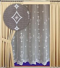 Záclona Orient výška 210 cm bílá