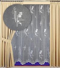 Záclona Lea výška 210 cm bílá