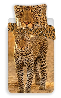 Povlečení Leopard fototisk 140x200,70x90 cm