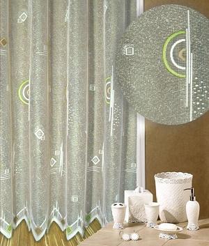 Záclona Ornamenty barevné výška 160 cm barevná, bílý podklad