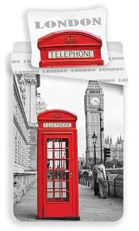 Povlečení London - Telephone 70x90, 140x200 cm