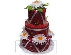 Textilní dort 3P-4 3patrový (2+2) bordó