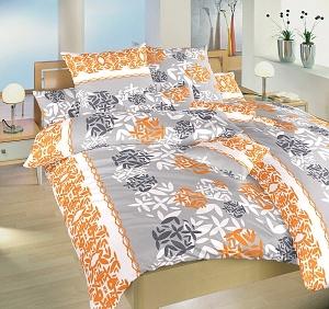 Náhradní polštář povlak krepový 70x90 cm Šarlota pomeranč