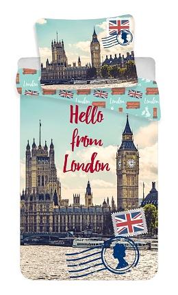 Povlečení London Hello 70x90, 140x200 cm