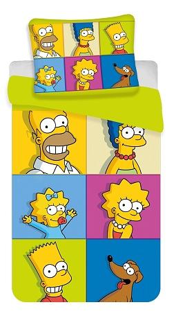 Povlečení Simpsonovi square 140x200,70x90 cm