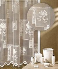 Záclona Růže výška 140 cm bílá