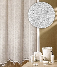 Záclona Čistá výška 140 cm bílá