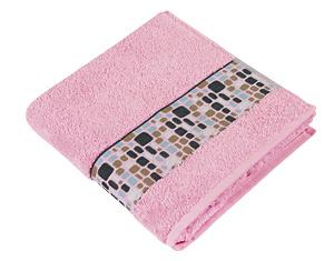 Froté ručník kameny 50x100 cm růžová