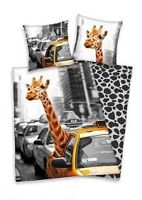 Povlečení bavlna - New York žirafa 140x200,70x90 cm
