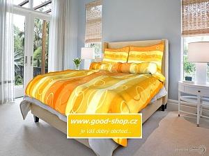 Povlečení krepové 140x200,70x90 cm Kola oranžová