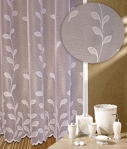 Záclona Stonky výška 140 cm bílá