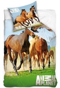 Povlečení Animal Planet - Divocí koně 70x90, 140x200 cm