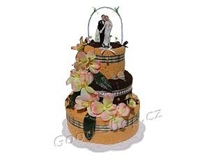 Textilní dorty svatební